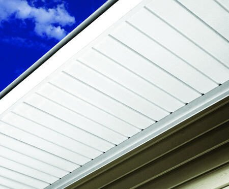 Roofing under cealing (soffit)a foot 28gauge white 18inch wide